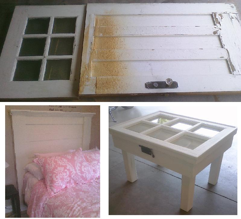 Turn your old door into custom headboard repurposed for How to turn an old door into a table
