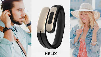 Helix wearable stereo headphones