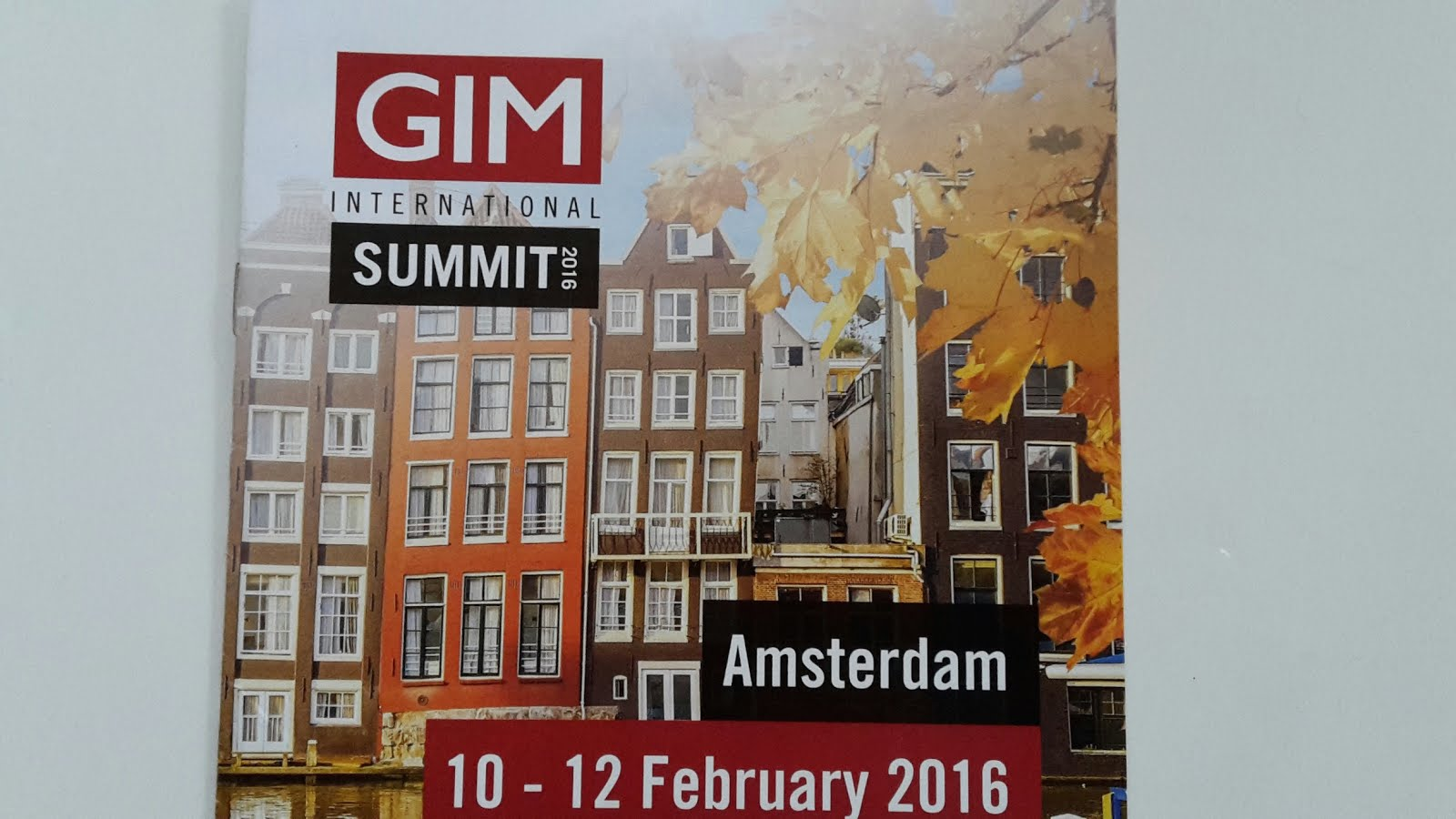 GIM International Summit 2016