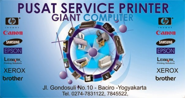 SERVIS PRINTER & REFILL TONER COLOR GIANT COMPUTER YOGYAKARTA