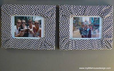 mylittlehousedesign.com DIY Fabric Wrapped Picture Frames