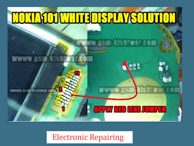 Nokia 101 white display solution