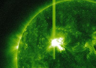 llamarada solar clase M5.7, 10 de Mayo de 2012
