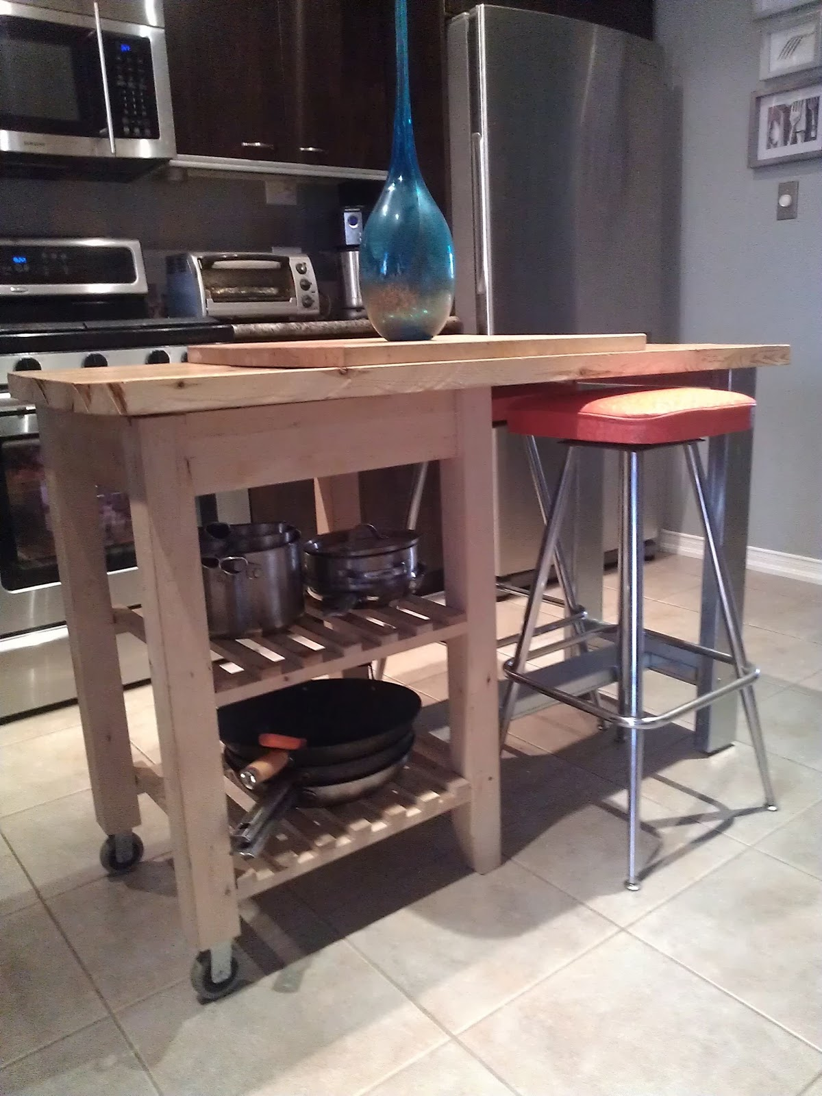 re-tiquedrae bond: kitchen island ikea hack