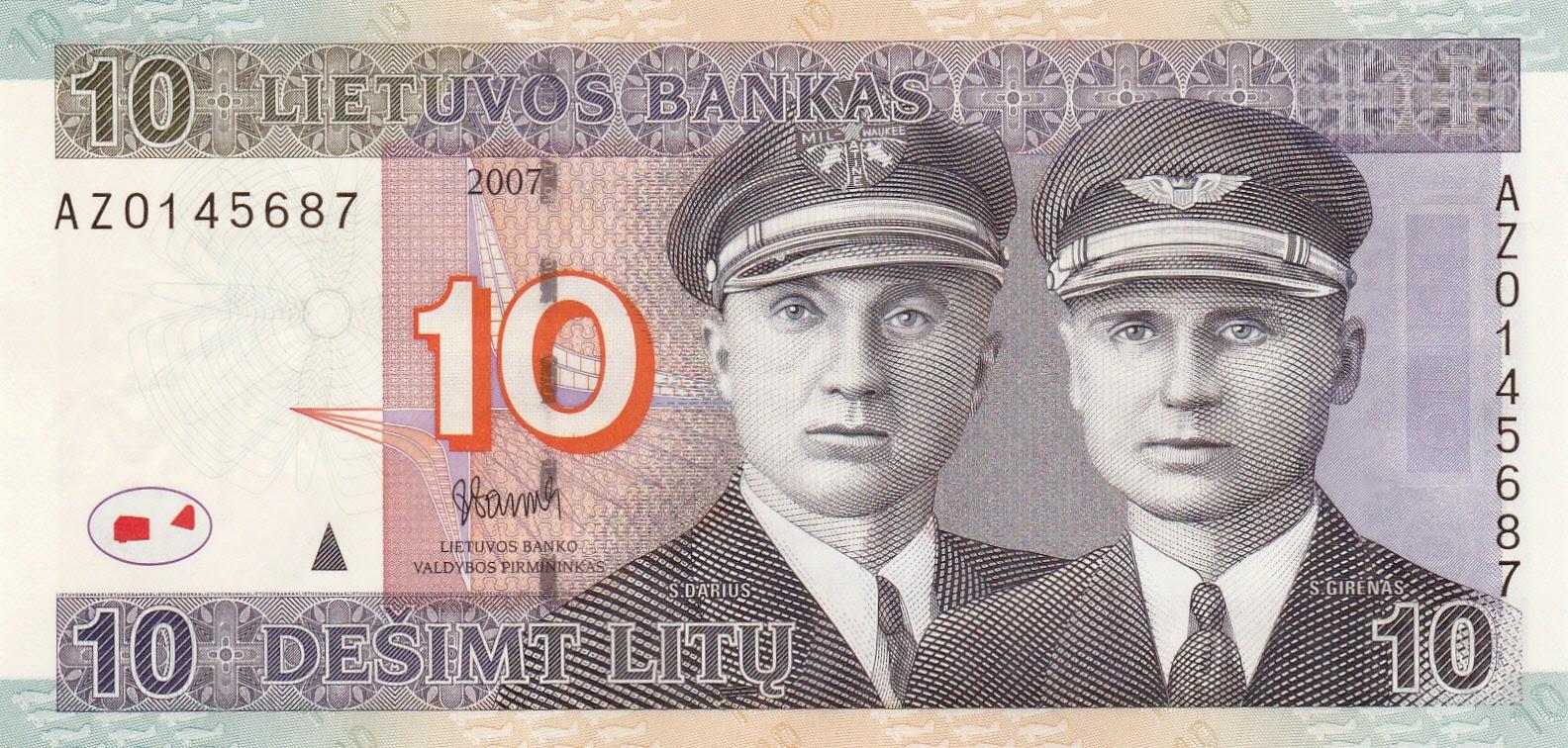 10 Lithuanian Litas banknote