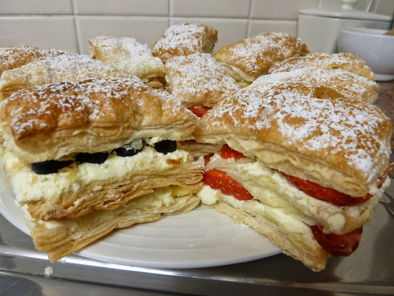Strawberry and Lemon Millefeuille
