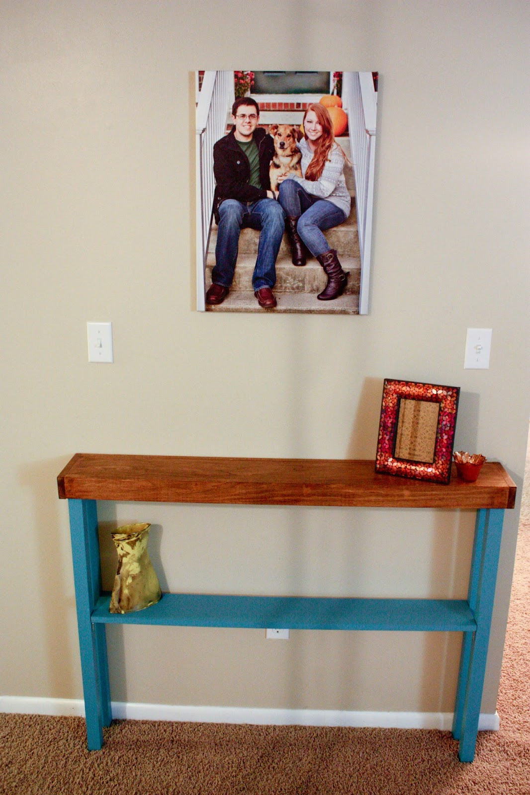 happiness unexamined diy hallway console table. Black Bedroom Furniture Sets. Home Design Ideas