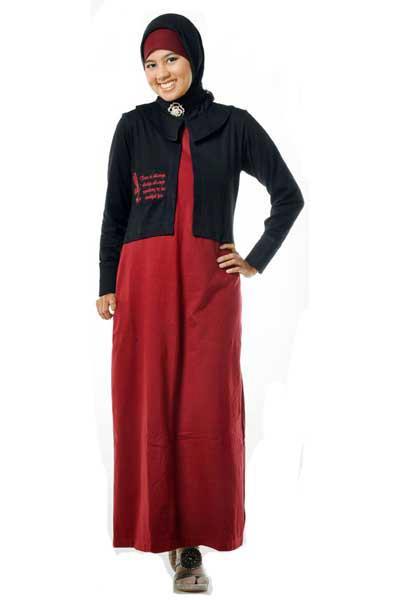 Baju Gamis Kaos Trendy Jilbab Terbaru