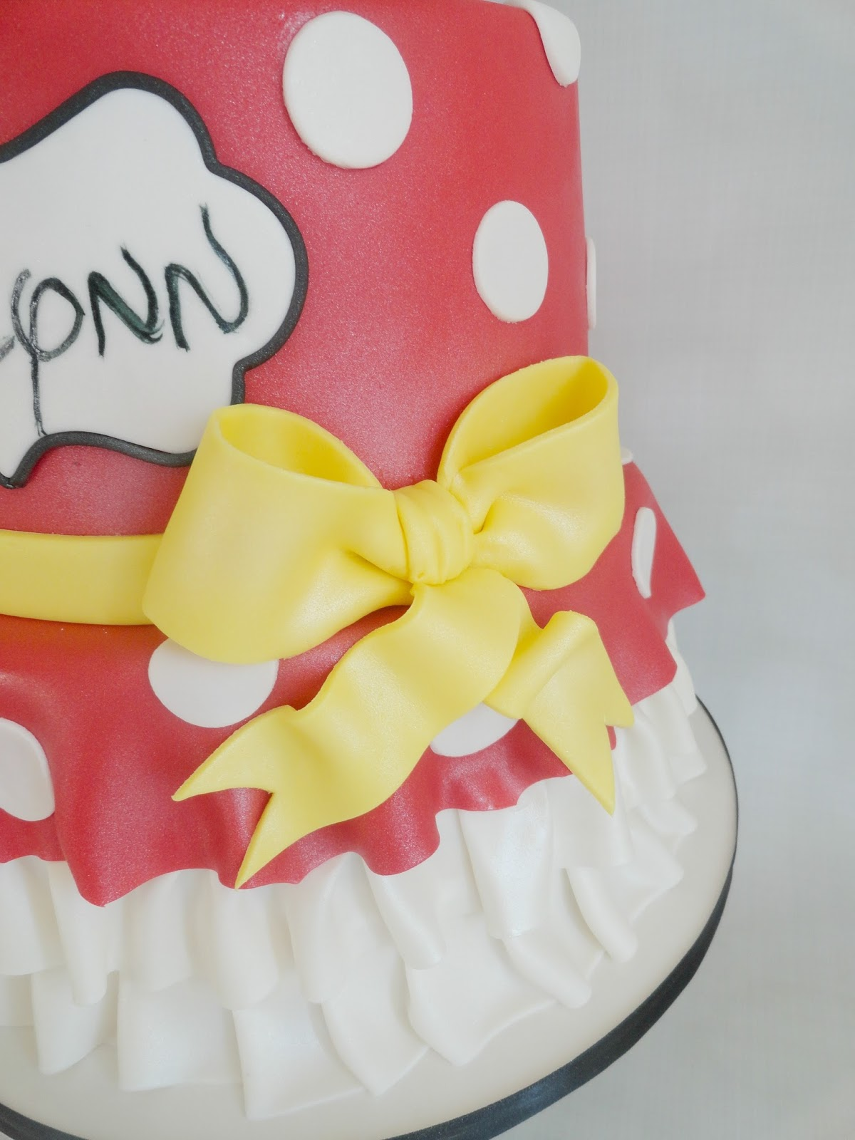 My Pink Little Cake Minnie Mouse 1st Birthday Cake