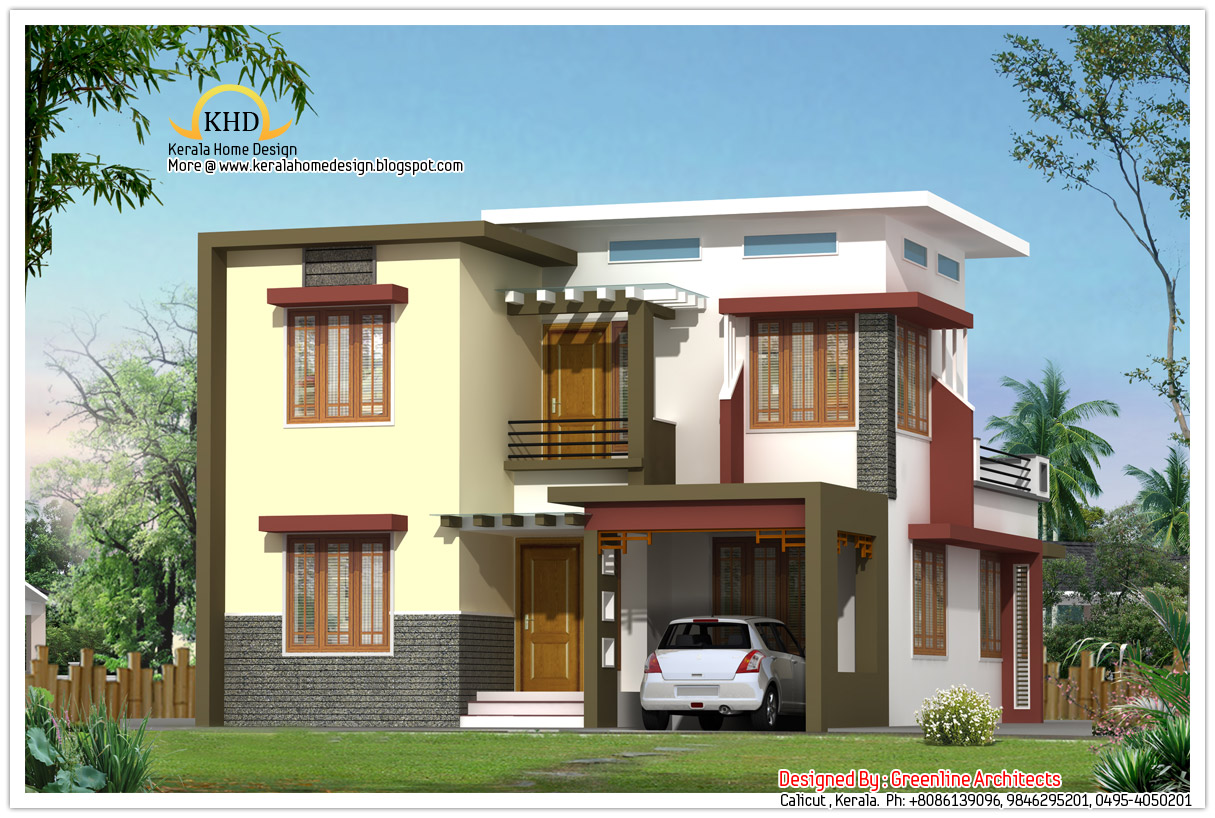 Exterior collections kerala home design 3d views of for Villa plans and designs
