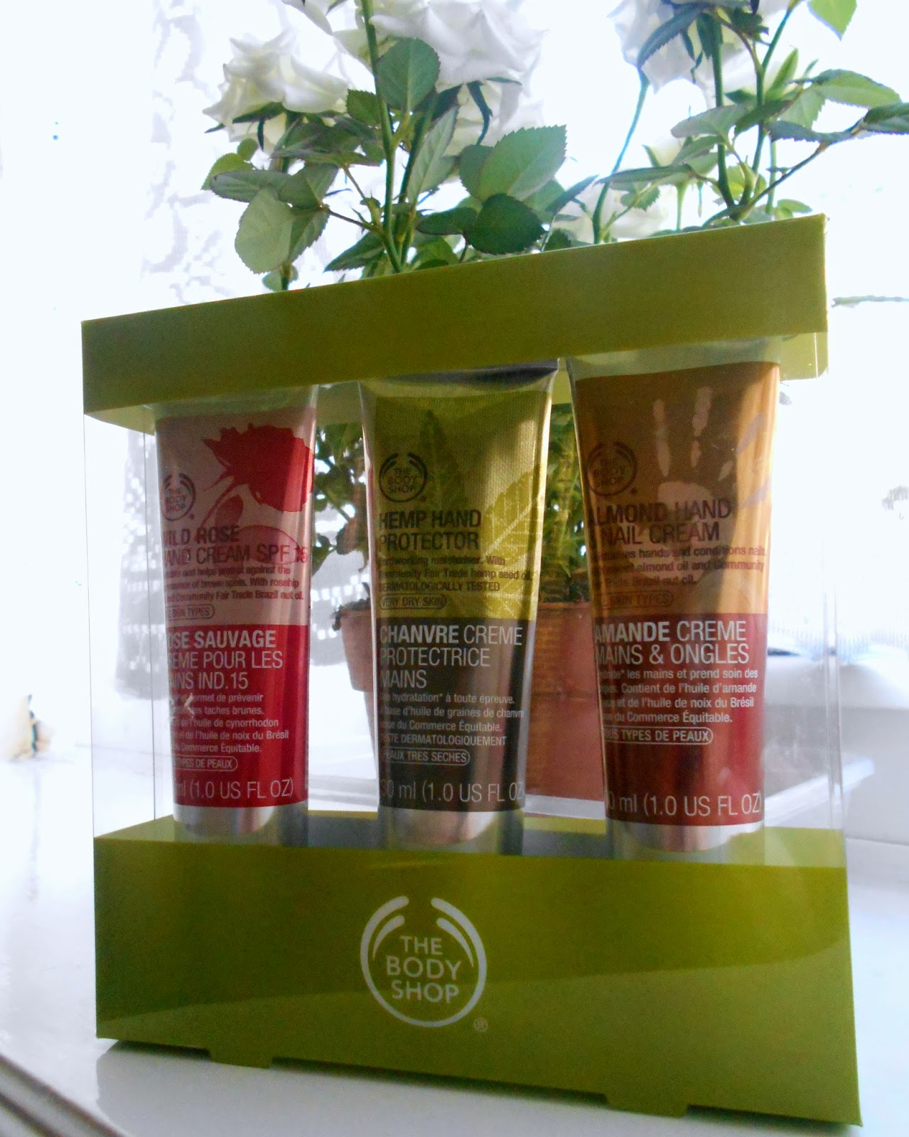 The Body Shop - Wild Rose Hand Cream, Hemp Hand Protector and Almond Hand Cream - Review