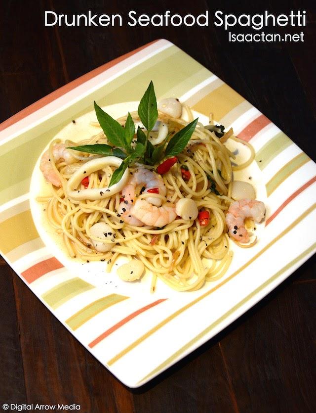 Drunken Seafood Spaghetti - RM18