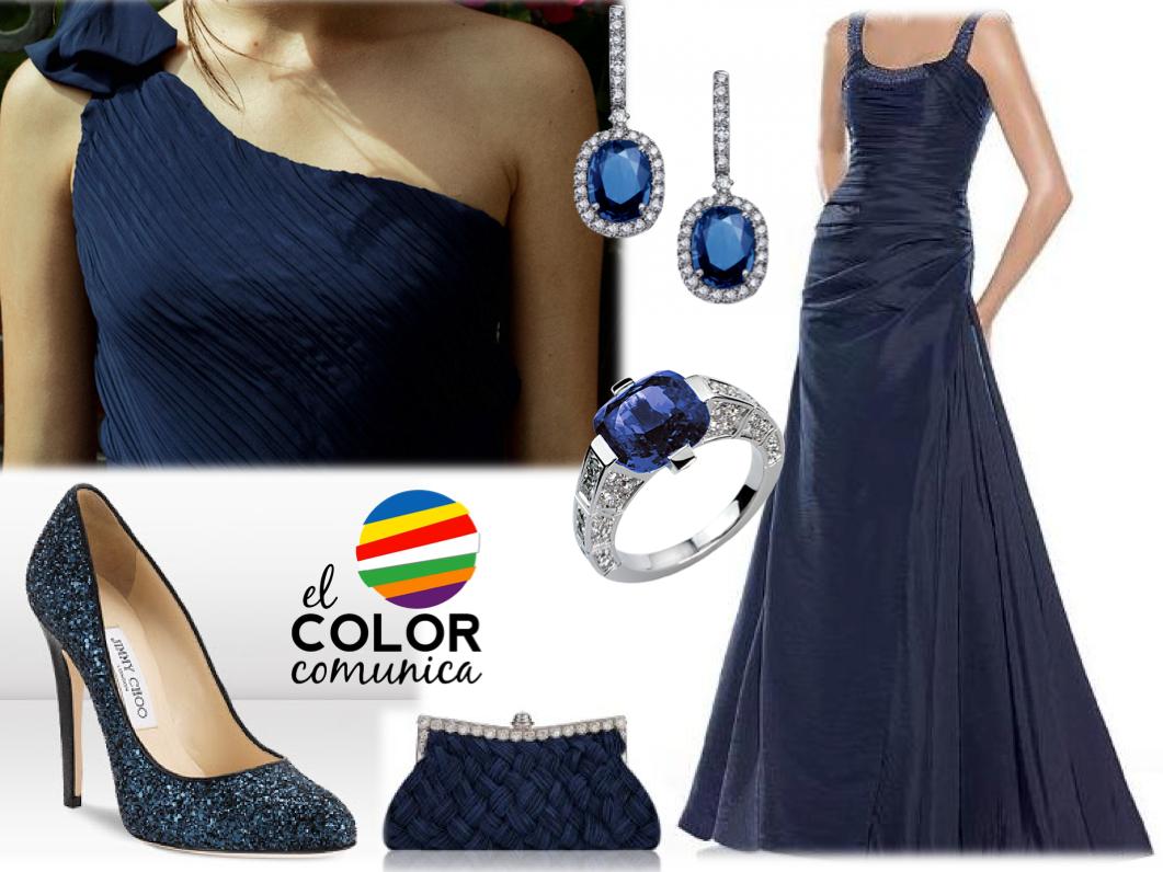 Combinaciones de accesorios para vestido azul marino