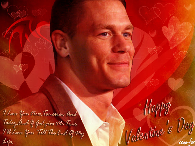 john cena wishing valentine day