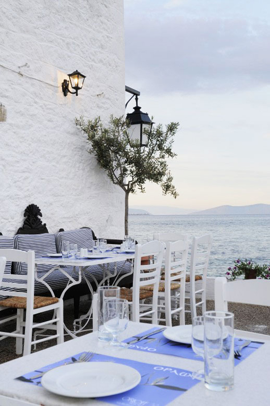 Orloff Restaurant in Spetses island, Greece. See more at www.grecianparadise.com