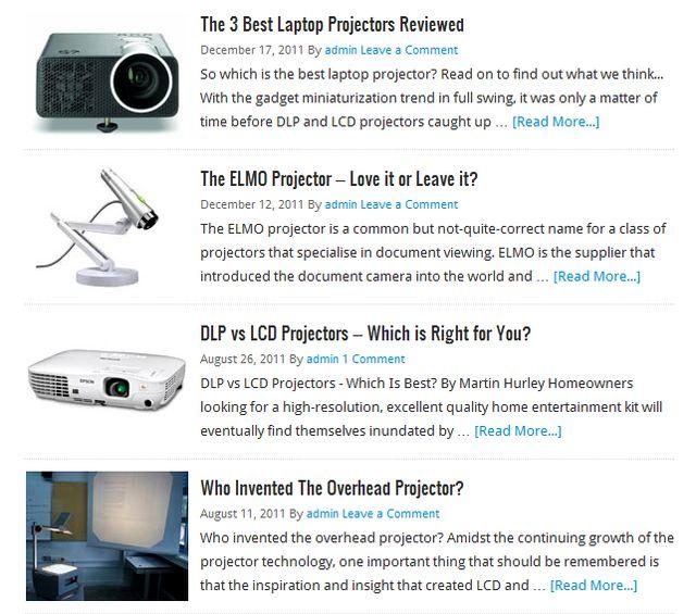 LCD Projectors review at Bestlcdprojectors.com
