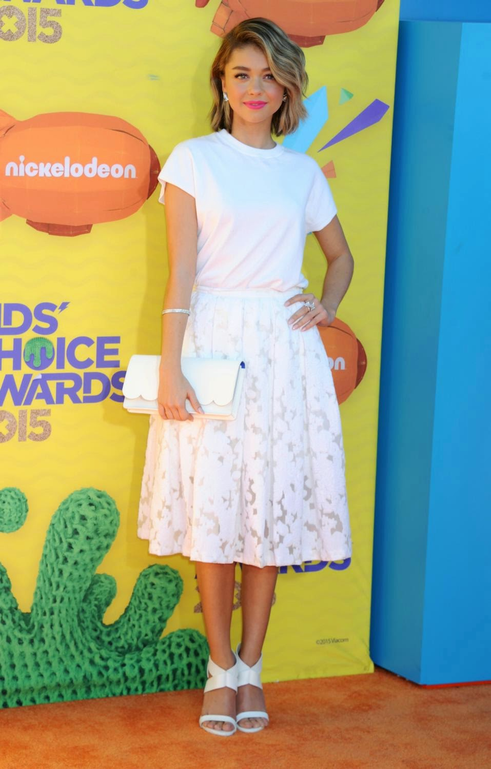Sarah Hyland at The 28th Annual Kid's Choice Awards held at The Forum in Inglewood, California