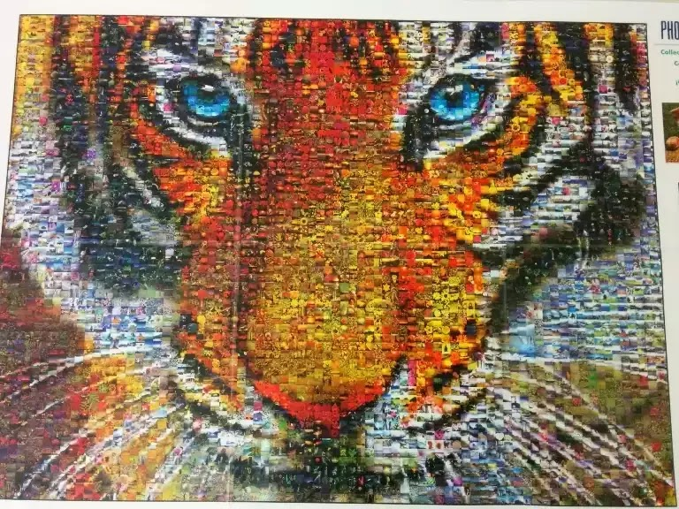 Buffalo Games Tiger Photomosaic 1000 piece jigsaw puzzle