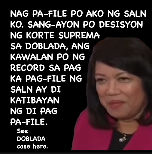 THE DOBLADA JURISPRUDENCE DEBUNKED BY SC VS. SERENO