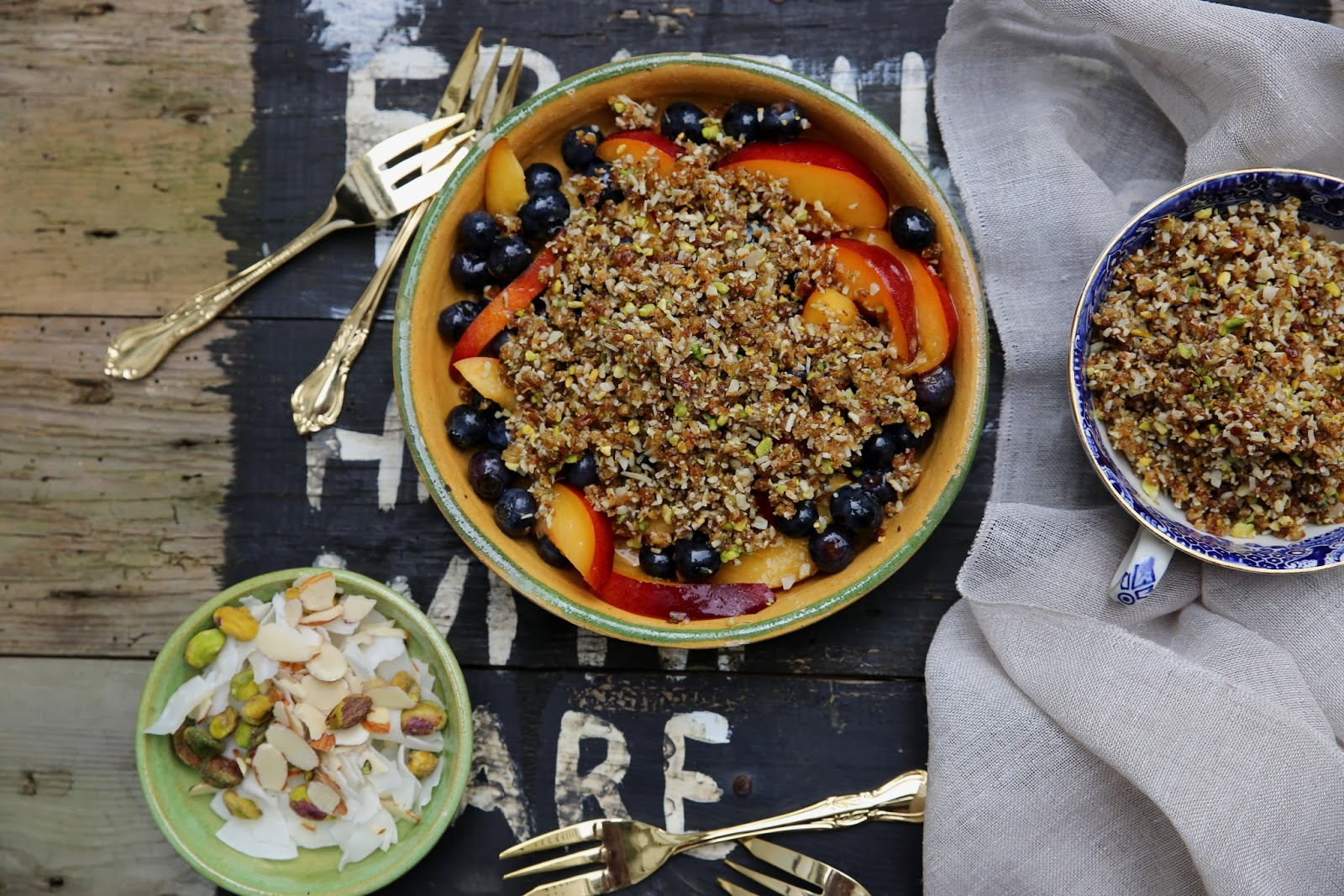 Gluten-Free Raspberry, Blueberry And Pistachio-Almond Crumble Recipes ...