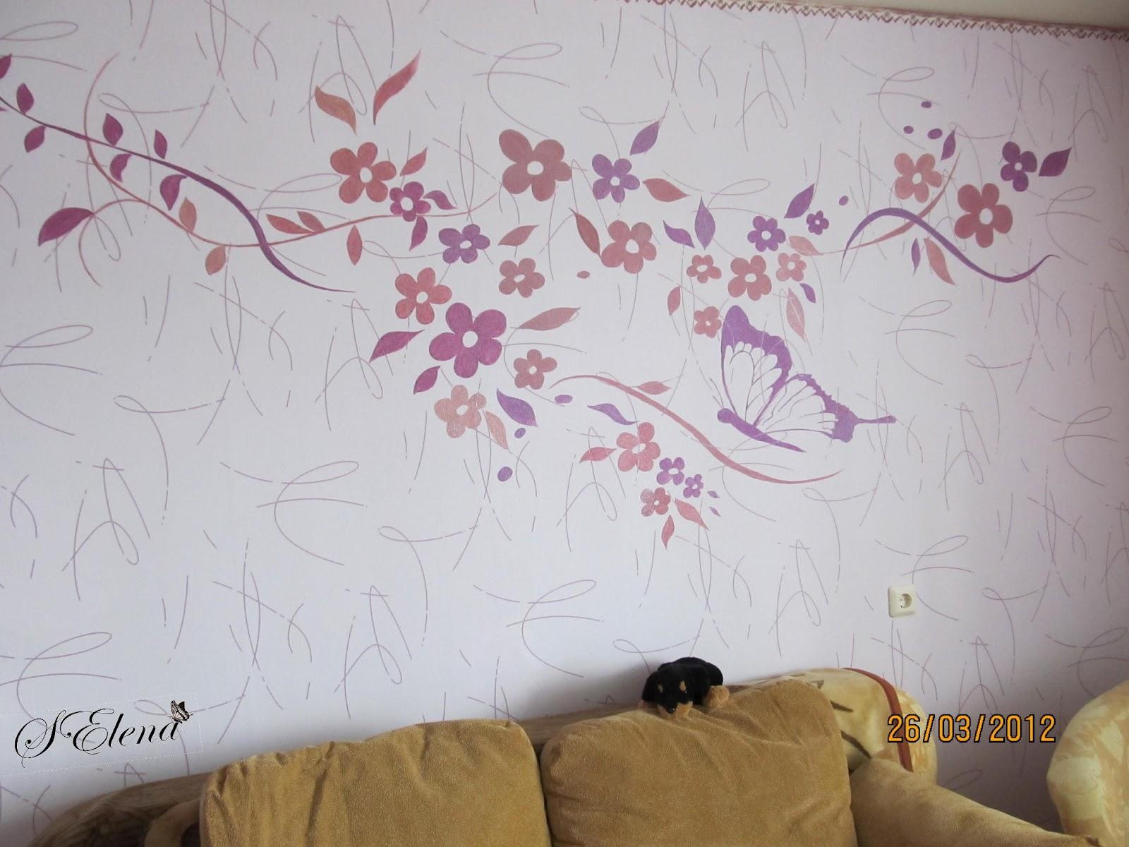 Трафареты рисунков на стенах в квартире своими руками фото