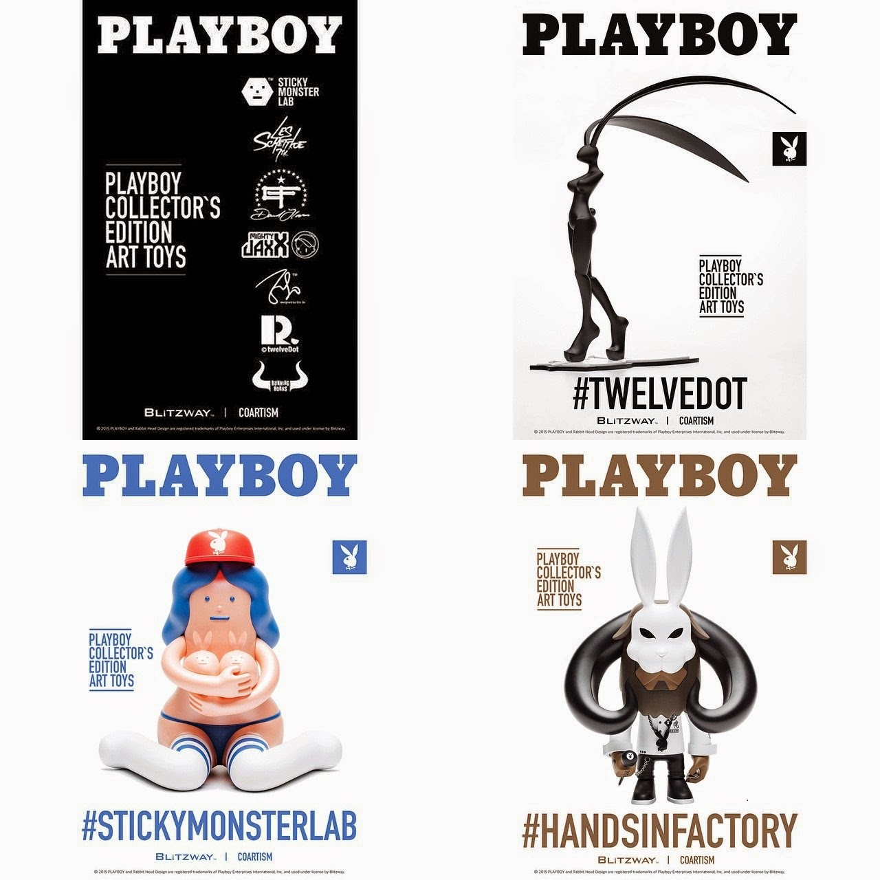 The Playboy Designer Art Toy Series presented by Coartism & Blitzway - TwelveDot, Sticky Monster Lab & Hands In Factory