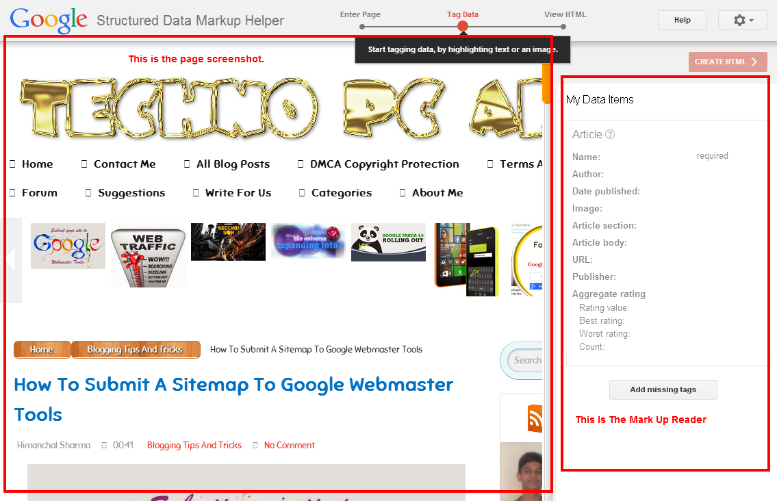 How To Use Structured Data Markup Helper For Adding Schema Markup To Blog ?