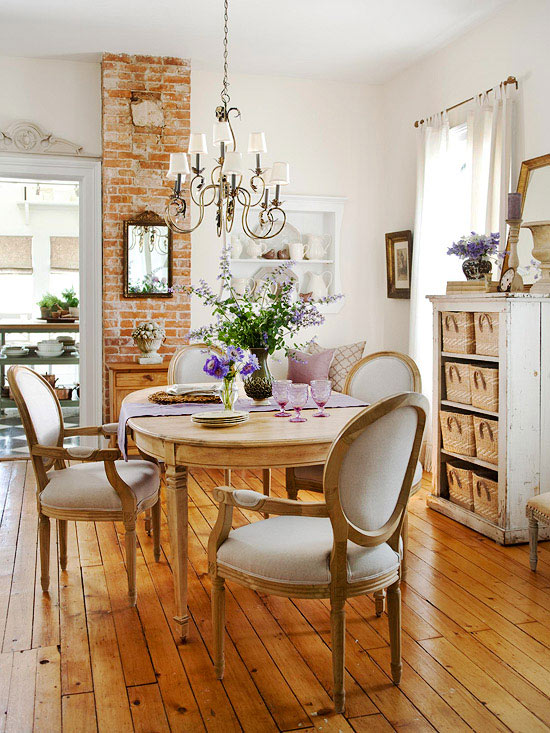 Mix and chic cottage style decorating ideas for Dining room ideas vintage