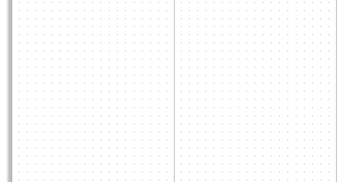 my life all in one place  print a basic dot grid notebook