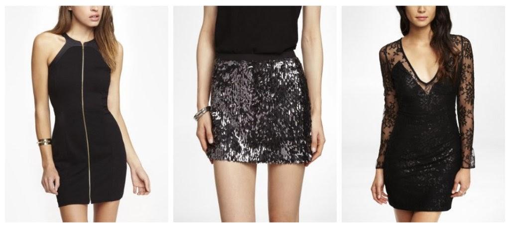 Express zip front mesh back sheath dress, sequin fringe mini skirt, plunging v neck metallic lace dress, black dress, LBD