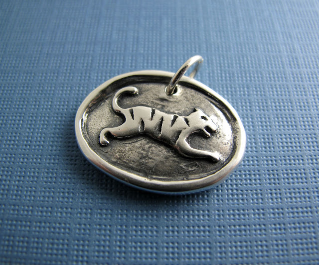 sterling silver tiger pendant charm beth hemmila hint jewelry necklace