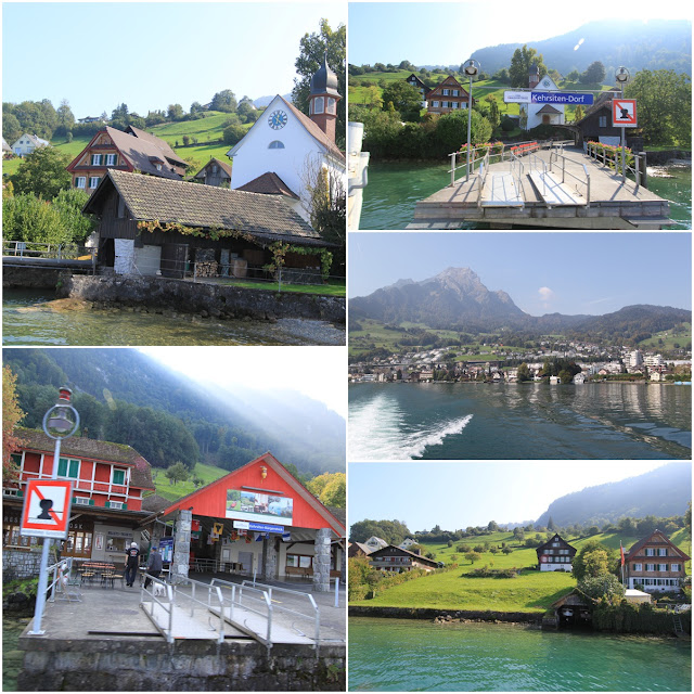 Traditional Swiss Houses along Lake Lucerne in Lucerne, Switzerland