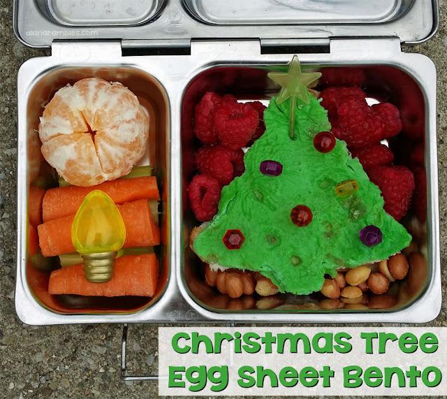 Christmas Tree Egg Sheet Bento