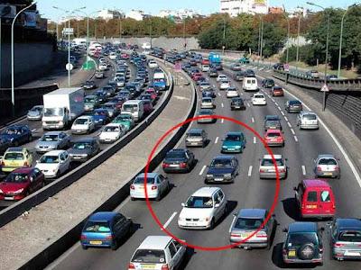 congestionamento na França