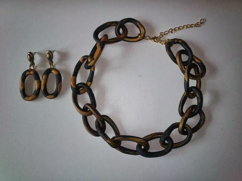 Collar Cadena Pendientes FIMO
