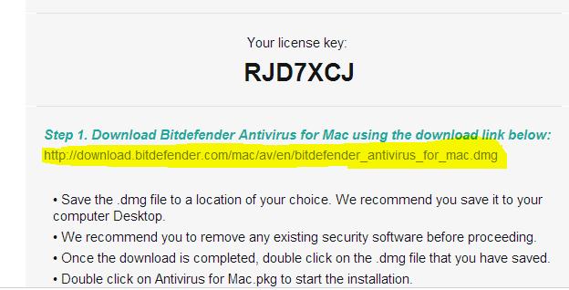key-licencia Bitdefender