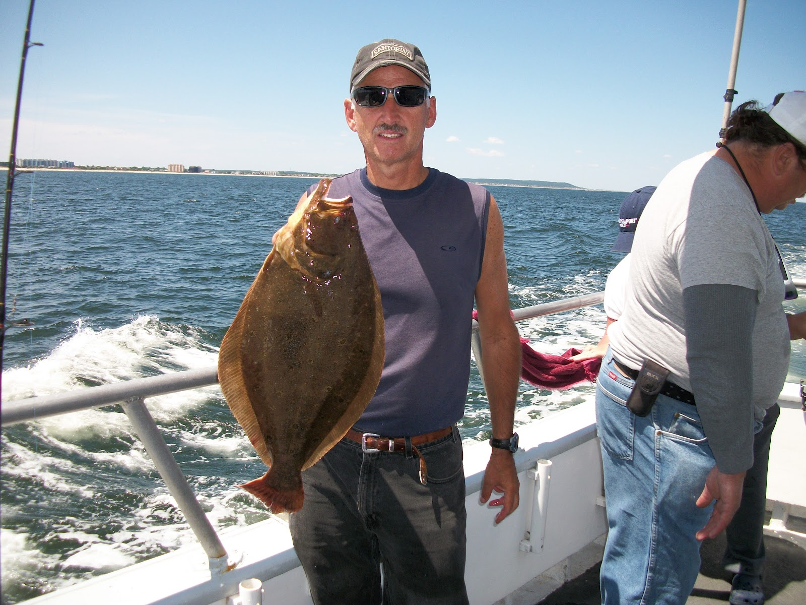 Captain cal party boat fluke report 8 2 12 for Capt cal fishing report