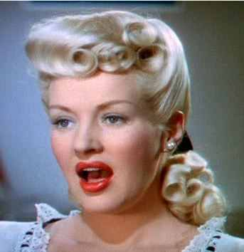 Vintage Starlet: Betty Grable hair : Pin Up Girl