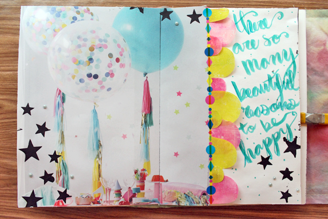 Beautiful Reasons | Art Journal page by @punkprojects