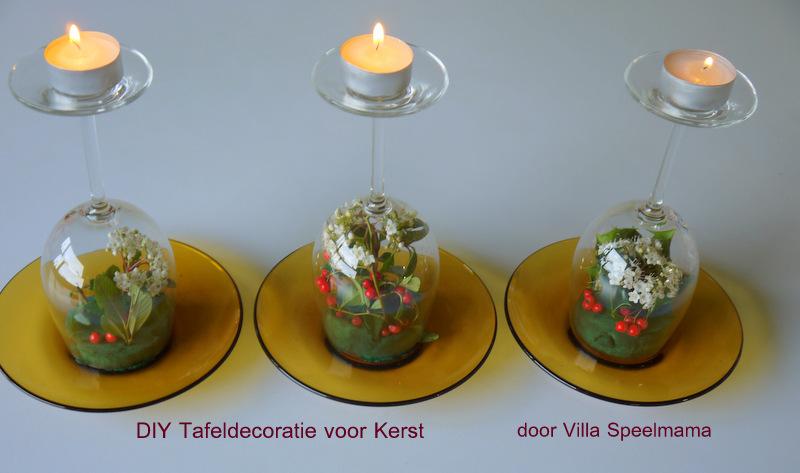 Kerst Tafel Decoratie : Villa speelmama: helemaal in kerstsfeer: diy snel klaar bloemstukje