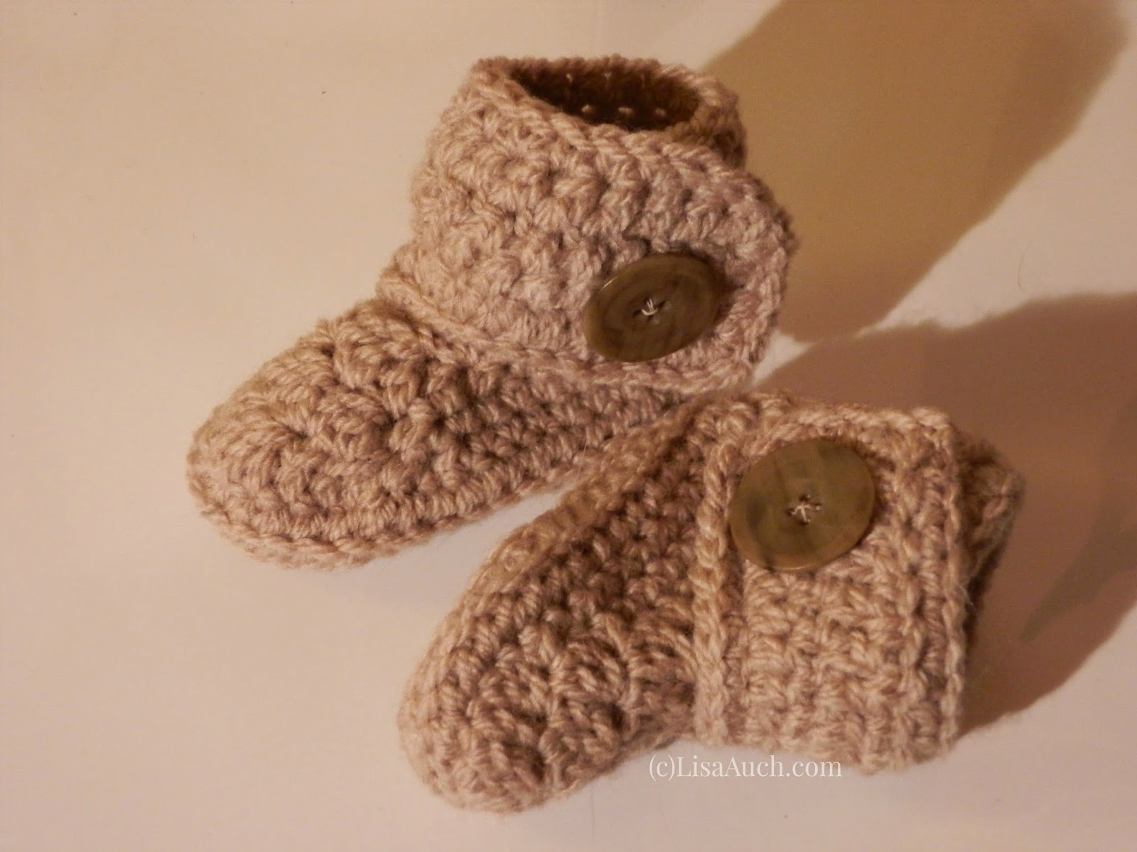 Free Crochet Pattern Baby Ugg Booties : Free Crochet Patterns and Designs by LisaAuch: Free ...