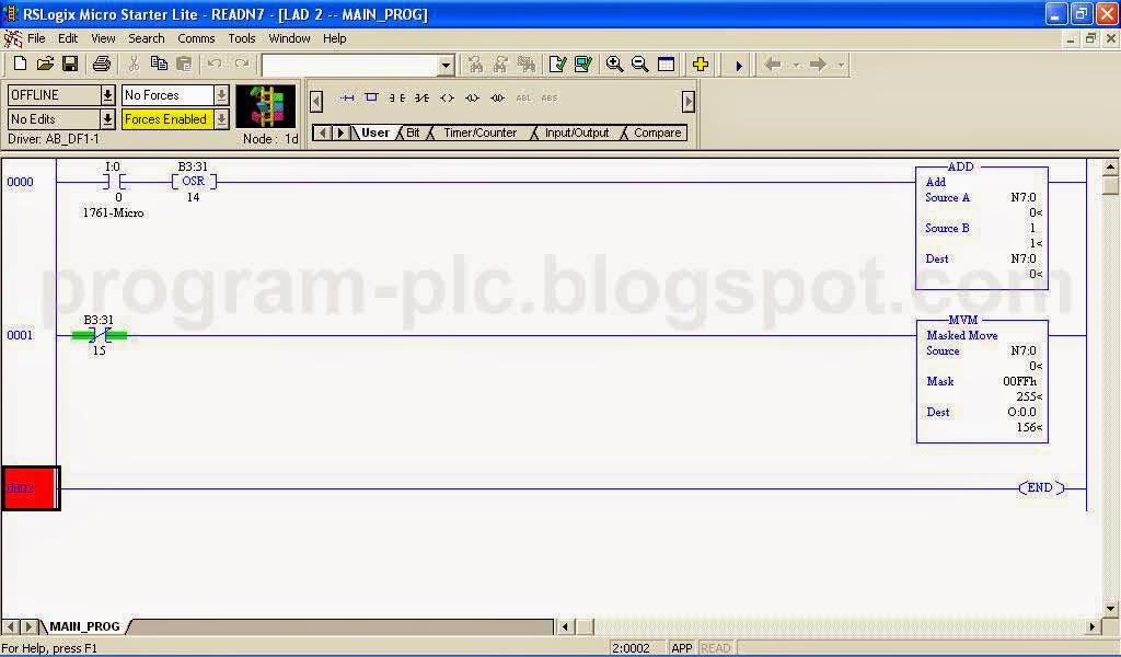PLC Ladder Programming for Allen-Bradley MicroLogic 1000