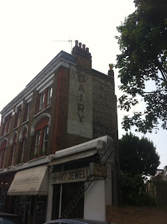 Ghost sign in Richmond Way, London W14