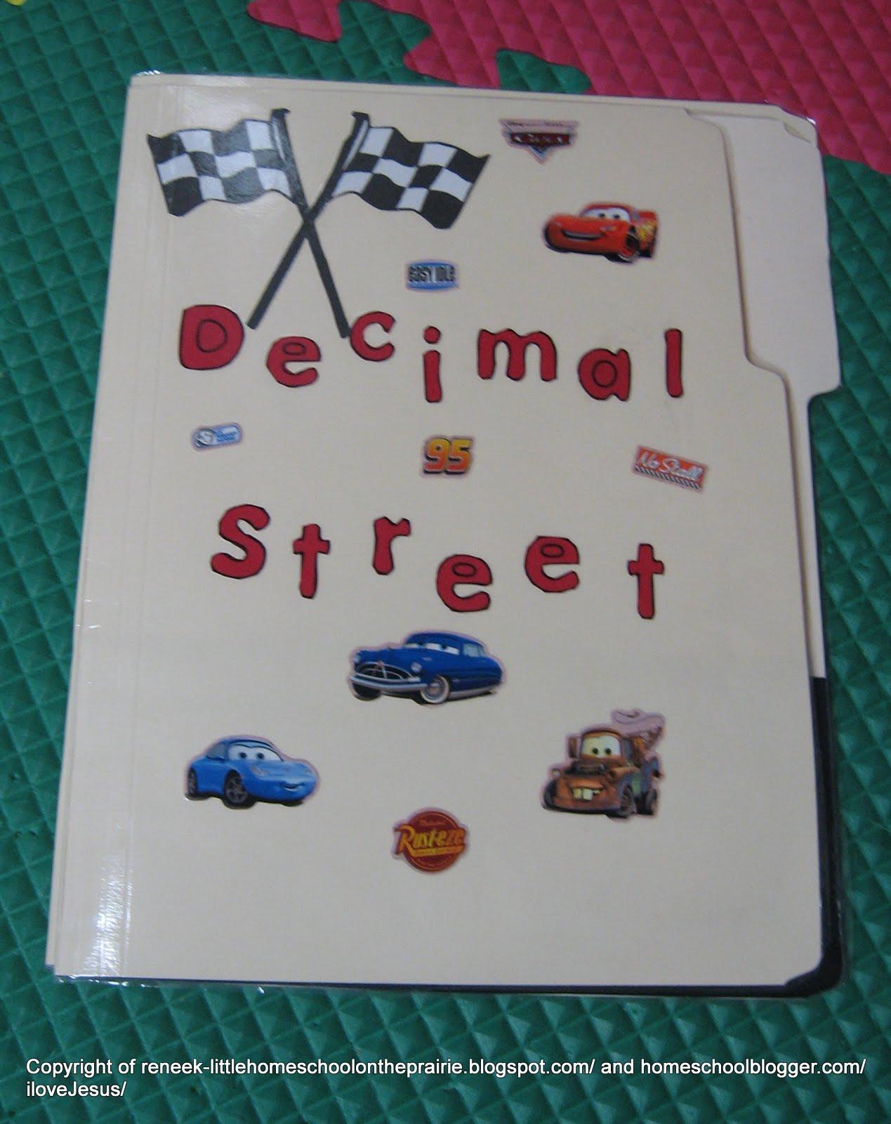 Math U See Decimal Street Lapbook