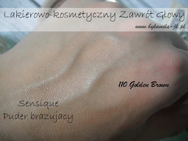 Sensique puder brązujący 110 Golden Brown swatch Natura