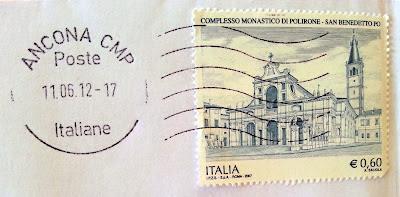 francobollo Complesso Monastico di Polirone San Benedetto Po (MN)