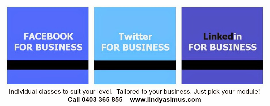 banner for Facebook Twitter and Linkedin training packages