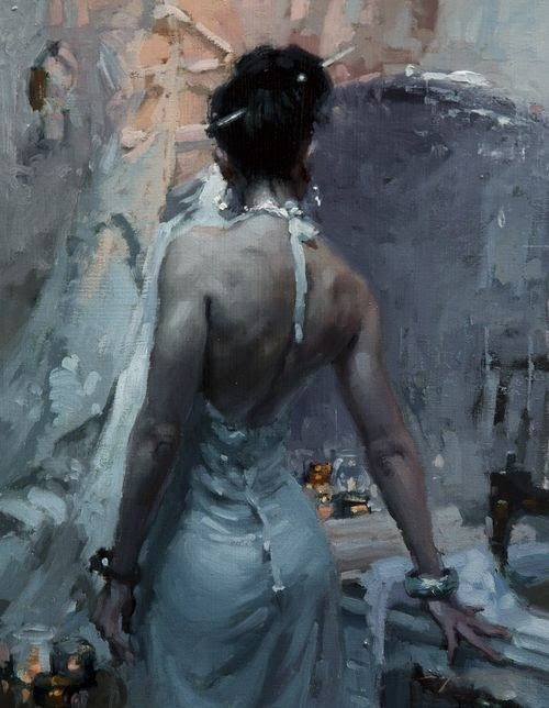 Jeremy Mann oil paintings beautiful women