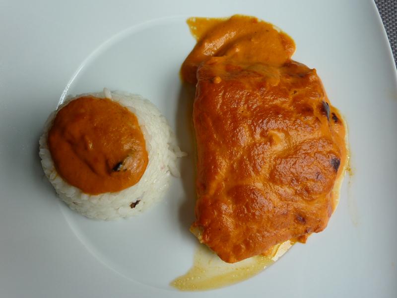 Prato de Bacalhau com molho de pimentos