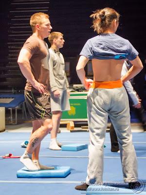 Цирк дю Солей, актеры на репетиции